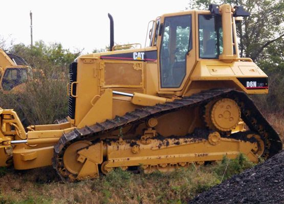 caterpillar bulldozer repainted