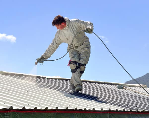 metal roof painting