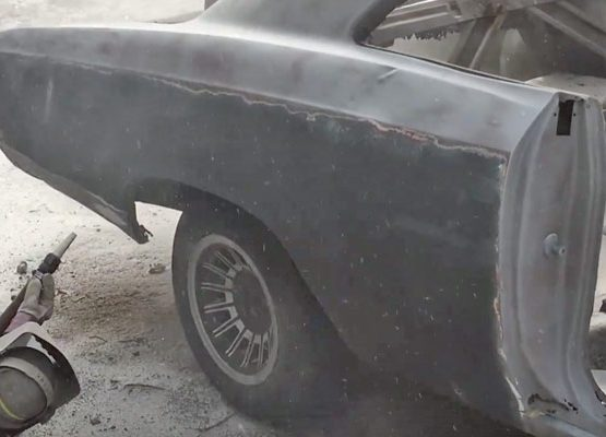 antique car sandblasting
