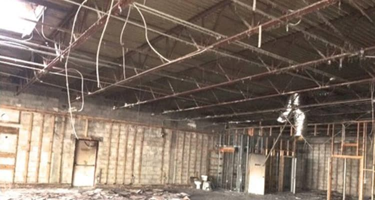 building fire restoration