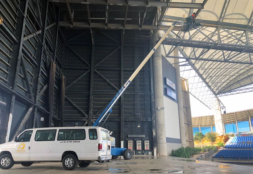 Live Nation and MidFlorida Credit Union Amphitheater Choose Industrial Painting Solutions For Structural Steel Remediation